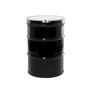 55 Gallon Black Open Head Unlined Steel Drum