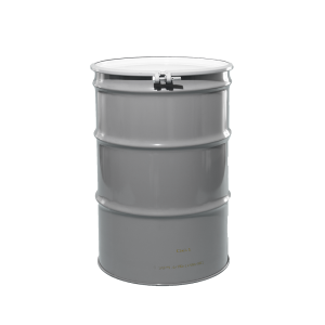 55 Gallon Grey Open Head Unlined Steel Drum