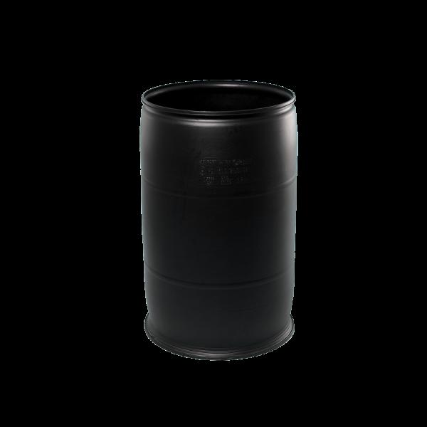 55 Gallon Black Openhead Plastic Drum w/No Cover