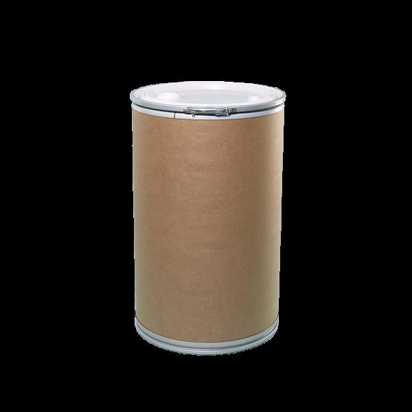 50 Gallon Openhead Liquid Fiber Drum w/Plastic Cover