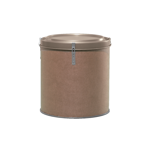 5 Gallon Openhead Dry Fiber Drum w/Metal Cover