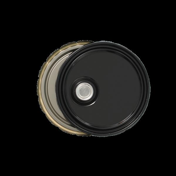 3.5-5 Gallon Black 24 Gauge UN w/Screw Cap Cover & Rust Inhibitor Lining
