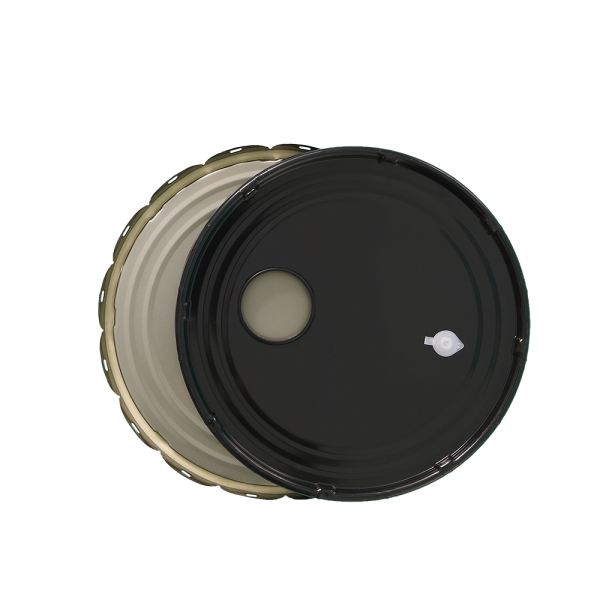 3.5-5 Gallon Black 26 Gauge RFI w/Pop Vent Cover & Rust Inhibitor Lining