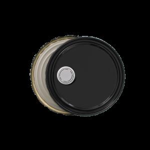 3.5-5 Gallon Black 24 Gauge UN RFI Cover w/Rust Inhibitor Lining