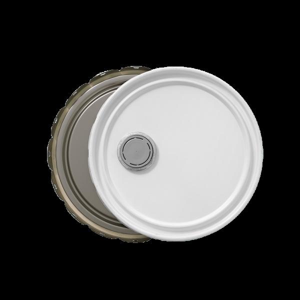 3.5-5 Gallon White 24 Gauge UN RFI Cover w/Rust Inhibitor Lining