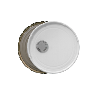 3.5-5 Gallon White 29 Gauge RFI Cover w/Rust Inhibitor Lining
