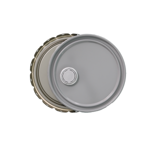 3.5-5 Gallon Grey 24 Gauge UN RFI Cover w/Rust Inhibitor Lining