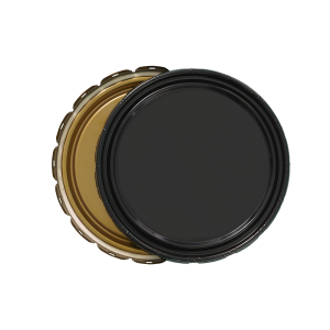 3.5-5 Gallon Black 24 Gauge UN Solid Cover w/Gold Lining
