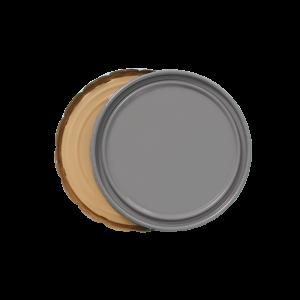 3.5-5 Gallon Grey 26 Gauge Solid Cover w/Buff Lining