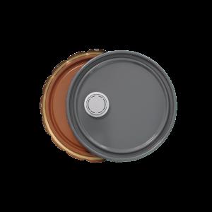 3.5-5 Gallon Grey 24 Gauge UN RFI Cover w/Red-Brown Phenolic Lining