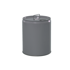 5 Gallon Grey 24 Gauge RFO Metal Tight Head Pail w/Rust Inhibitor Lining