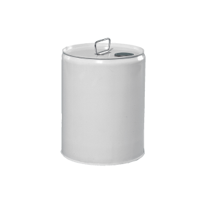 5 Gallon White 24 Gauge RFO Metal Tight Head Pail w/Phenolic FG Lining