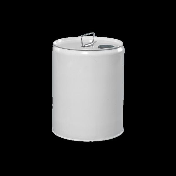 5 Gallon White 24 Gauge RFO Metal Tight Head Pail w/Phenolic FG Lining