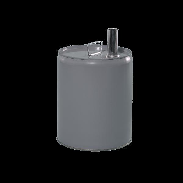 5 Gallon Grey 24 Gauge Metal Tight Head Pail w/Rust Inhibitor Lining