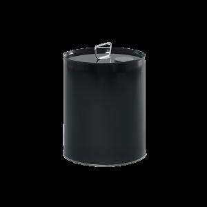 5 Gallon Black 24 Gauge RFO Metal Tight Head Pail w/Dust Cap, Unlined