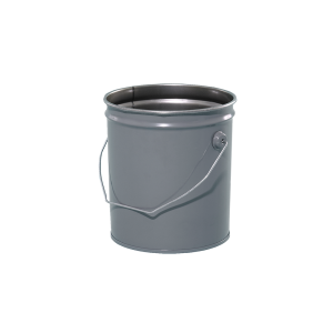 2 Gallon Grey 28 Gauge Metal Open Head Pail w/Rust Inhibitor Lining & Cover