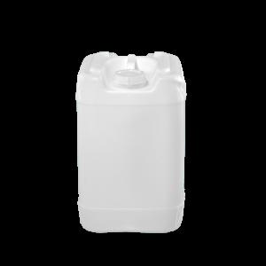 6 Gallon Natural Plastic UN Square Tight Head Pail w/70mm Opening, 6TPI