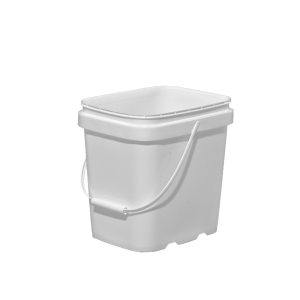 2 Gallon White HDPE EZ-Stor Pail w/Handle