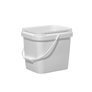 3 Gallon White HDPE EZ-Stor Pail w/Handle