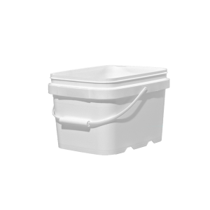 1.3 Gallon White HDPE EZ-Stor Pail w/Handle