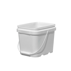 1.6 Gallon White HDPE EZ-Stor Pail w/Handle