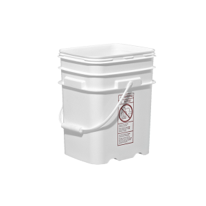 20 Liter White HDPE EZ-Stor Pail w/Handle