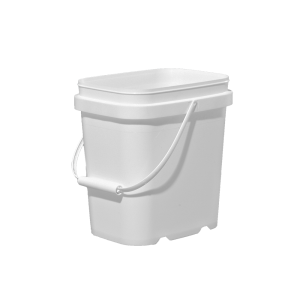 1 Gallon White HDPE EZ-Stor Pail w/Handle