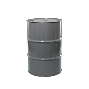 55 Gallon Grey Tight Head Unlined Agitator Steel Drum