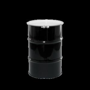 30 Gallon Black Open Head Unlined Steel Drum