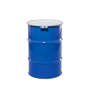 30 Gallon Blue Open Head Unlined Steel Drum