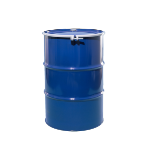55 Gallon Blue Open Head Lined Steel Drum