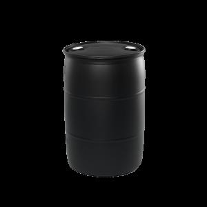 55 Gallon Black Tight Head Plastic Drum