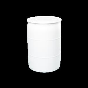 55 Gallon White Tight Head Plastic Drum