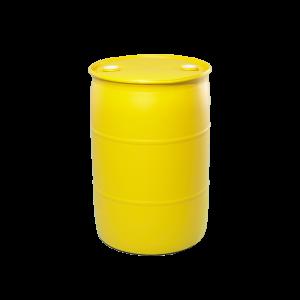55 Gallon Yellow Tight Head Plastic Drum
