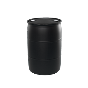 30 Gallon Black Tight Head Plastic Drum