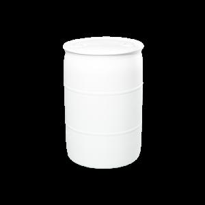 30 Gallon White Tight Head Plastic Drum