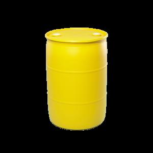 30 Gallon Yellow Tight Head Plastic Drum