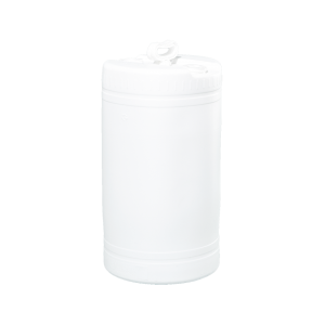 20 Gallon White Tight Head Double Handle Plastic Drum