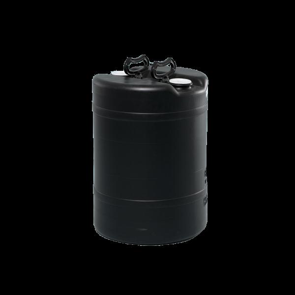 15 Gallon Black Tight Head Double Handle Plastic Drum