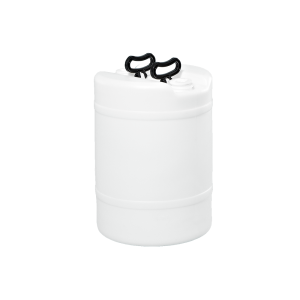 15 Gallon White Tight Head Double Handle Plastic Drum