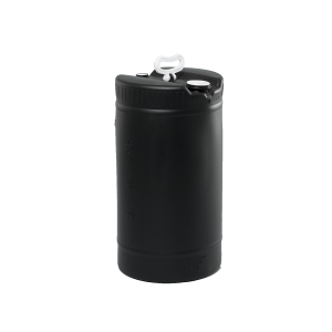 15 Gallon Black Tight Head Single Handle Plastic Drum