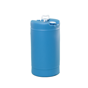 15 Gallon Blue Tight Head Single Handle Plastic Drum