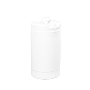15 Gallon White Tight Head Single Handle Plastic Drum