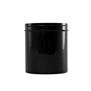 40 oz Black PP Wide Mouth Plastic Facial Jar, 100-400
