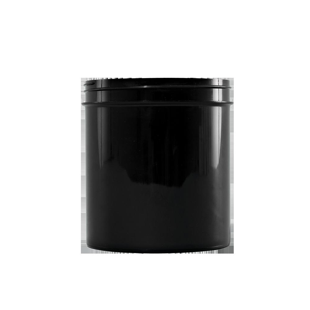 40 oz Black PP Wide Mouth Plastic Facial Jar, 100-400