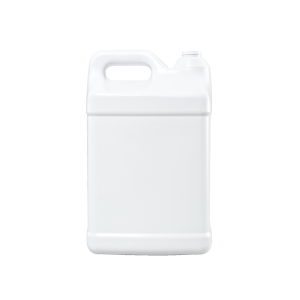 10 Liter White HDPE Square Handleware F-Style Container, 38mm