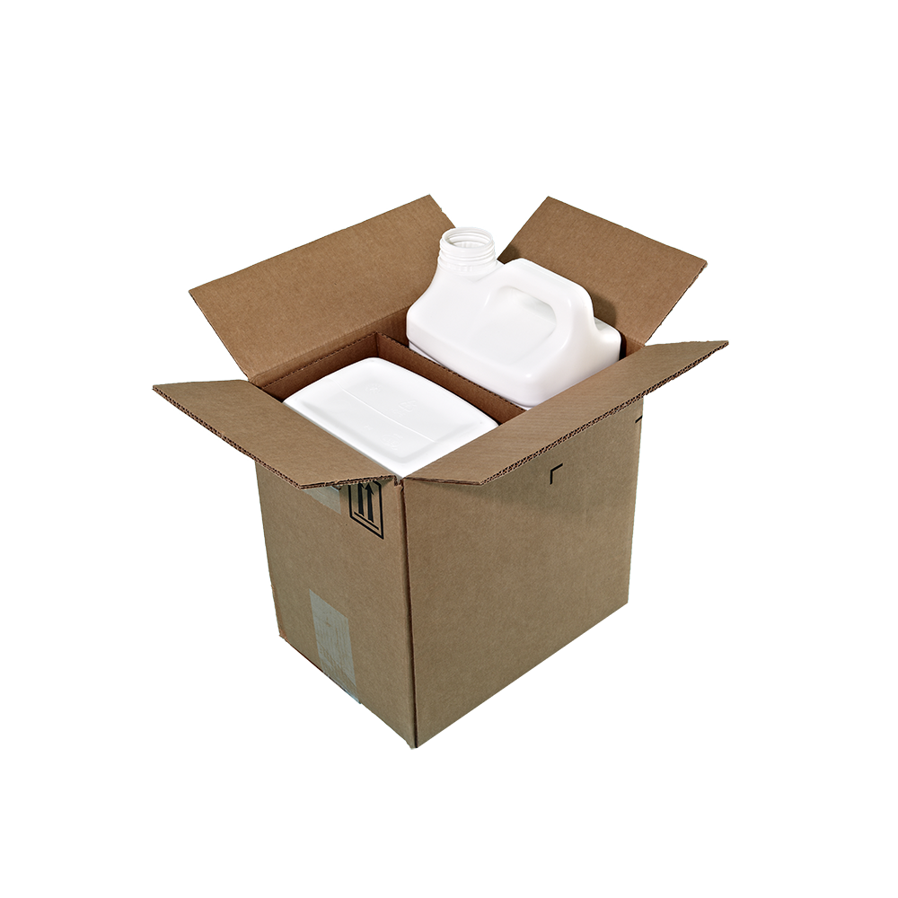 10 Liter White HDPE F-Style Container, 63mm