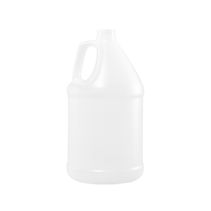 1 Gallon Natural HDPE Round Handleware Container, 38-400