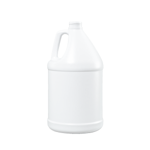1 Gallon White HDPE Round Handleware Container, 38-400