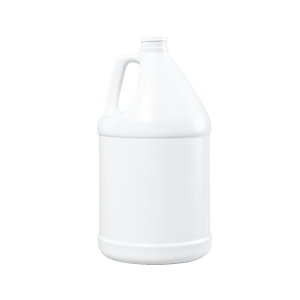 1 Gallon White HDPE Round Handleware Container, 38-400, FTL1